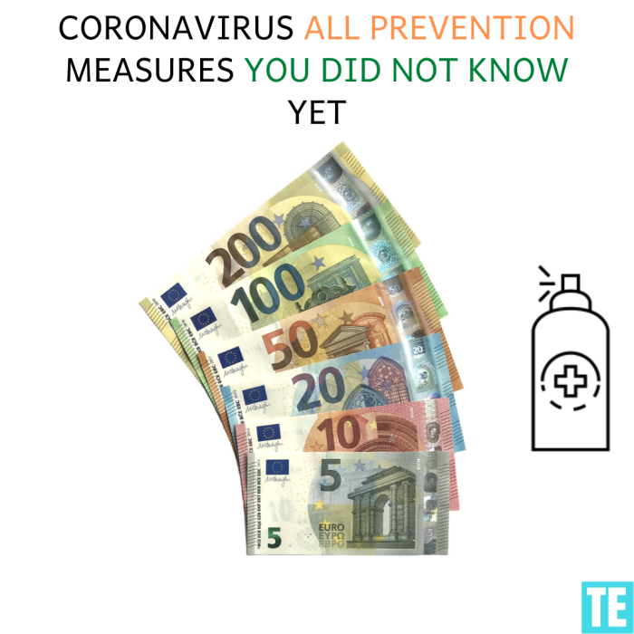 Bank notes coronavirus