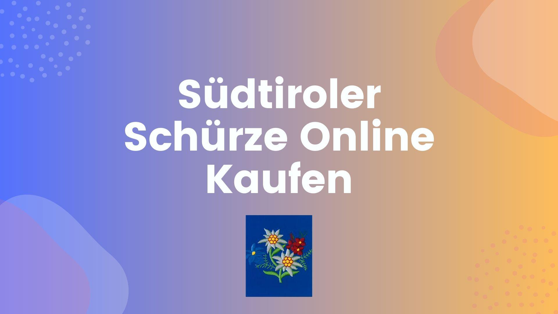 Südtiroler Schürze Online