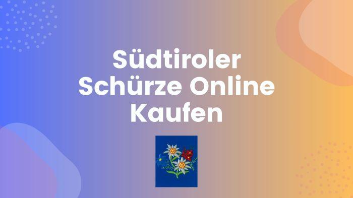 Tiroler Schürze Online Kaufen