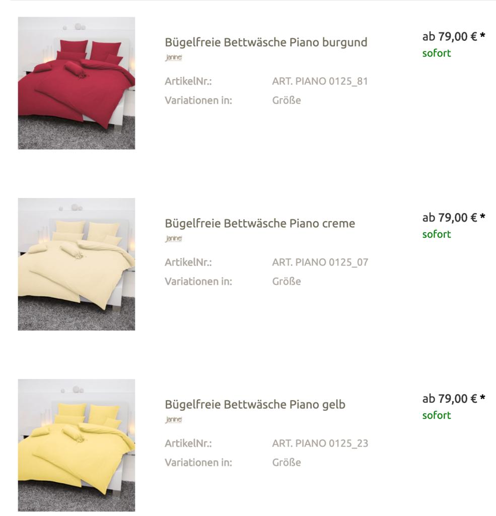 Bettwäsche Südtirol