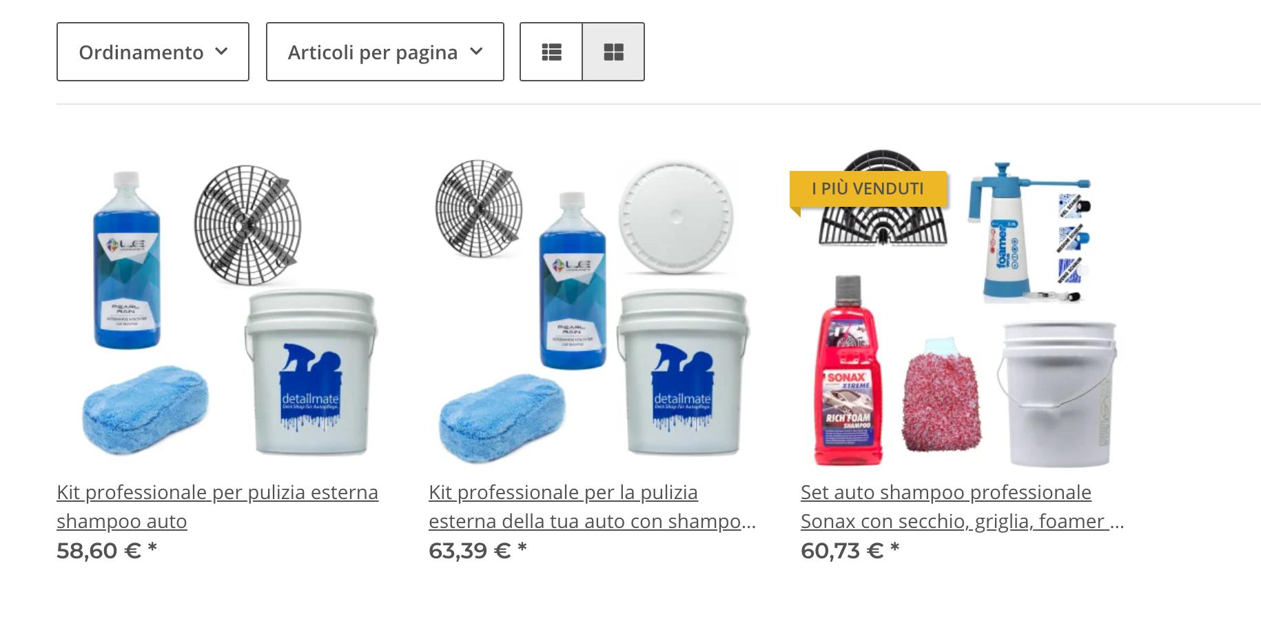 Kit Per Lavaggio Auto